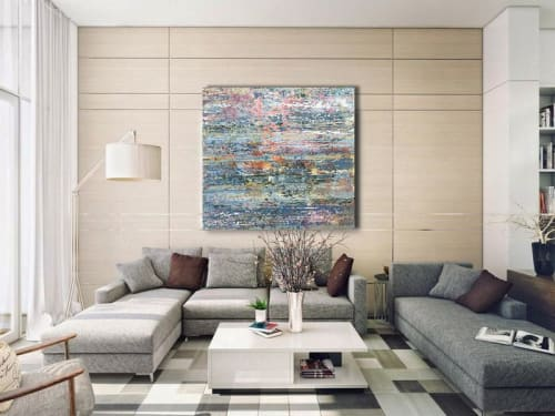 Paintings by DAVID SKILLICORN - American Abstract Painter seen at Private Residence, New York - Motet
