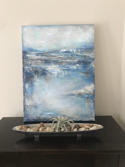 Paintings by Tracy Armstrong seen at Private Residence, Ottawa - Tidal Rhythms