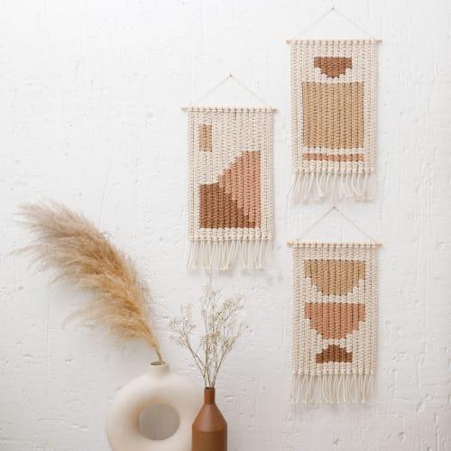 "Set ""Desert Dream"", ""Geometric Shapes "" & ""Lunar Eclipse"" | Macrame Wall Hanging by ManaStudio"