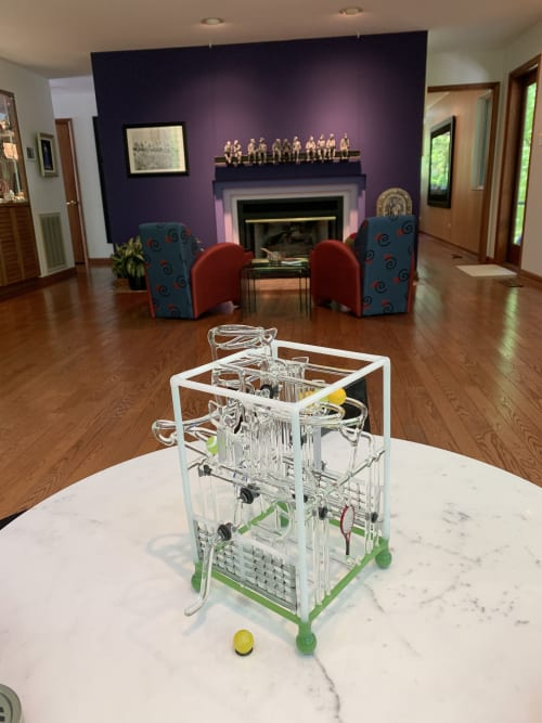 Sculptures by Bandhu Dunham seen at Private Residence, Knoxville - FRED #15 (Tennis, Anyone?)