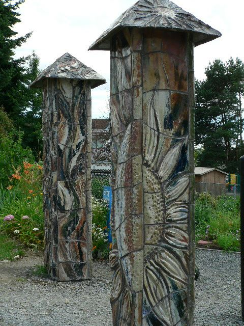 Public Art by Connie Glover Pottery seen at North Vancouver, North Vancouver - Friendship Gate