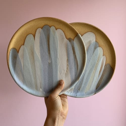 Ceramic Plates by Clay by Tina seen at Attica, Ripponlea - Pastel pour plates