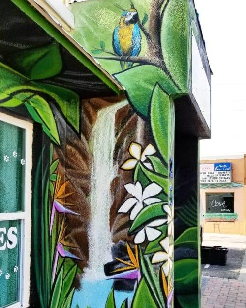 Murals by Kole Trent seen at Barrier Island Pet Supply, Cocoa Beach - Barrier Island