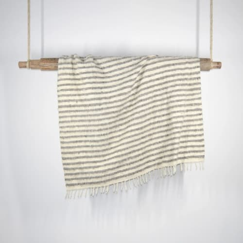 Linens & Bedding by Meso Goods seen at Creator's Studio, Guatemala City - Abaca Knapped Wool Throw