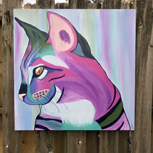 Cat Painting | Paintings by Dare Harcourt Art | Walnut Grove Animal Clinic in Memphis