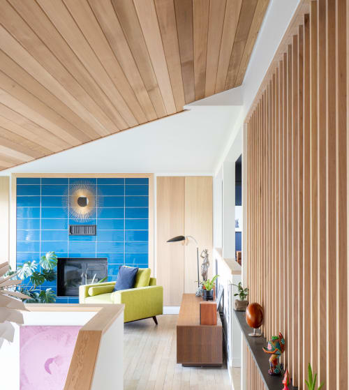 West Kelowna living room transformation featuring the Nihon Louver | Interior Design by Saito and Gasparick Remodel