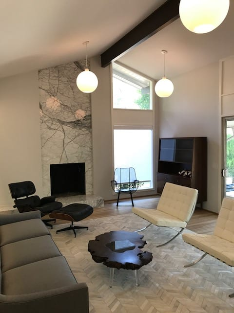 Custom Resin Walnut Coffee Table By Lumberlust Designs Seen At Private Residence In Kansas City Ks Kansas City Wescover