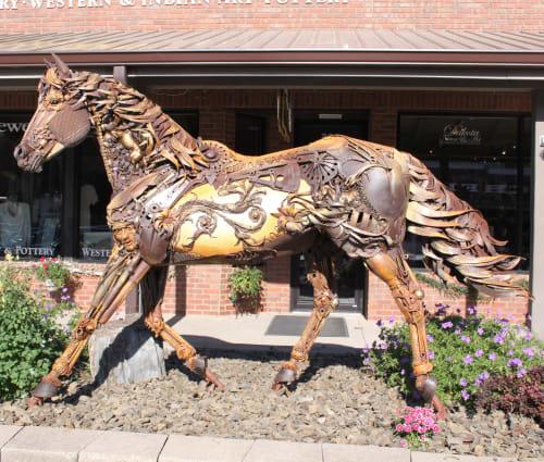 Public Sculptures by John Lopez seen at Hill City, Hill City - Iron Star