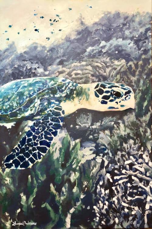 Paintings by Laura Palermo seen at Marker 23 Art Gallery, Stuart - Hawksbill
