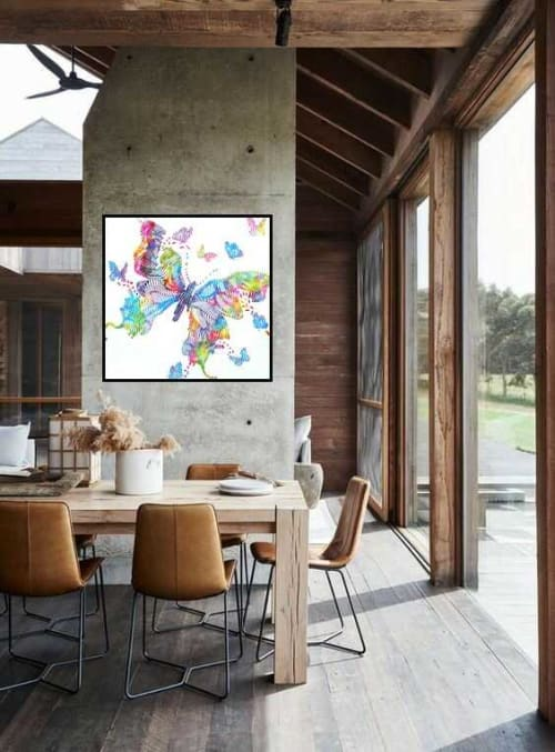Paintings by Virginie SCHROEDER seen at Creator's Studio - the butterfly hope explosion