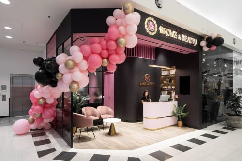 Interior Design by Studio Hiyaku seen at Stockland Wetherill Park Shopping Centre, Wetherill Park - Browz and Beauty by Usha