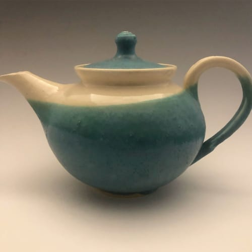Tableware by Urn Song Pottery seen at Art Gallery of Nova Scotia, Halifax - Teapot