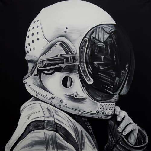 Cosmonaut | Paintings by Ricardo Rodriguez Cosme