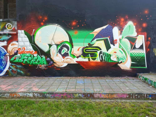 Street Murals by Semor the mad one seen at Cologne, Cologne - Street Mural