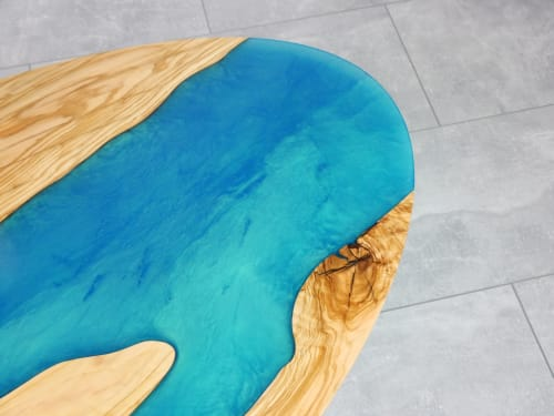 Tables by Julian Szmania seen at Private Residence - Aachen, Germany, Aachen - Island of Hope