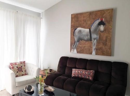 Paintings by Lauren Berley seen at Private Residence, Denver - Horse Painting