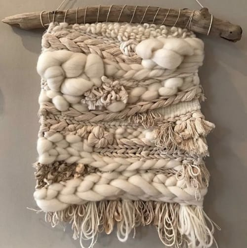 Wall Hangings by Great Blue Fiber seen at Private Residence, Queenstown - Roving in White