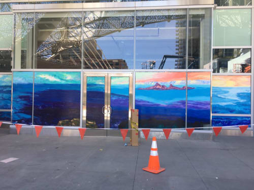 Murals by Artistmarius seen at Salesforce Transit Center, San Francisco - Ocean Mural