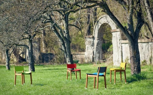 Chairs by Miles & May Furniture Works seen at Private Residence, Geneva - m3 terra Chairs