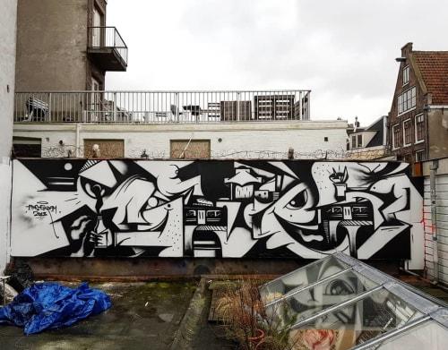 Street Murals by PALLADIN seen at Amsterdam, Amsterdam - Amsterdam 2018 Mural
