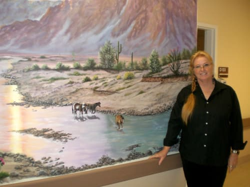 Murals by Judy Wolford Deems seen at 6412 Laurel Ave, Mountain Mesa - Desert mural at Skilled Nursing Facility in Mt. Mesa , CA.