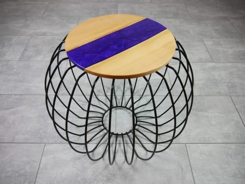 Tables by Julian Szmania seen at Private Residence - Aachen, Germany, Aachen - Purple Heart