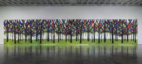 "Murals by Dylan Mortimer seen at Kansas Studio, Kansas City - ""The Congregation"""