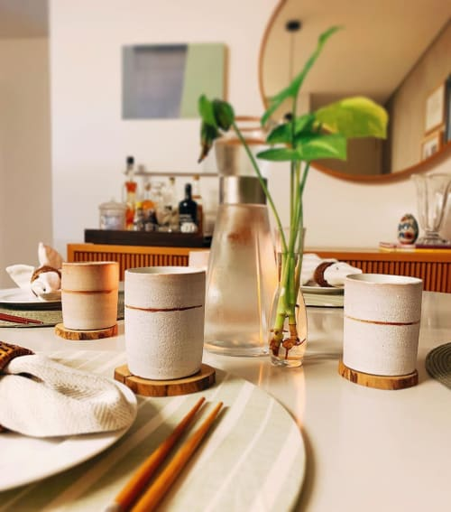 Cups by Vali Croxatto seen at Private Residence - White Matte Ceramic Cup