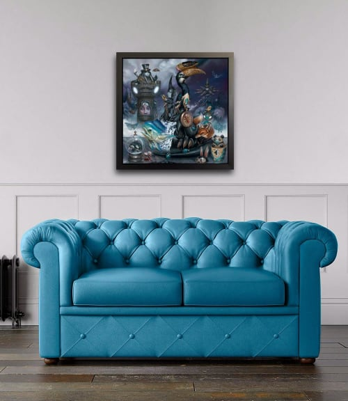 "Art & Wall Decor by Greg ""Craola"" Simkins seen at Private Residence, Huntington Beach - ""FOGGY KNIGHT"""