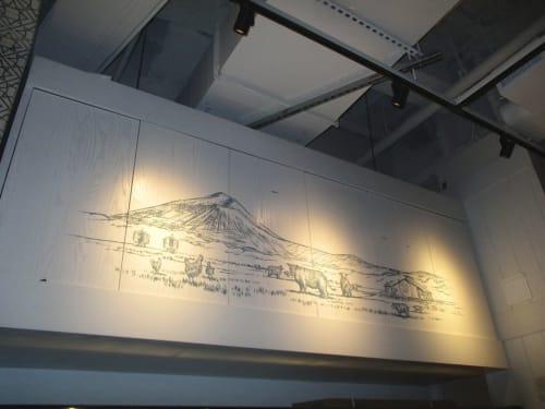 Art & Wall Decor by Elliott Mattice Art & Design seen at Hudson Yards, New York - Belcampo Meats restaurant decor