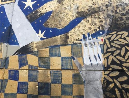 Street Murals by Kazy Usclef seen at Strasbourg, Strasbourg - Nightcall