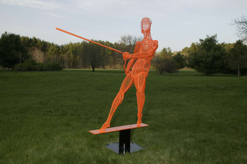 Sculptures by Jack Howard-Potter seen at Leonia, Leonia - Pulling III