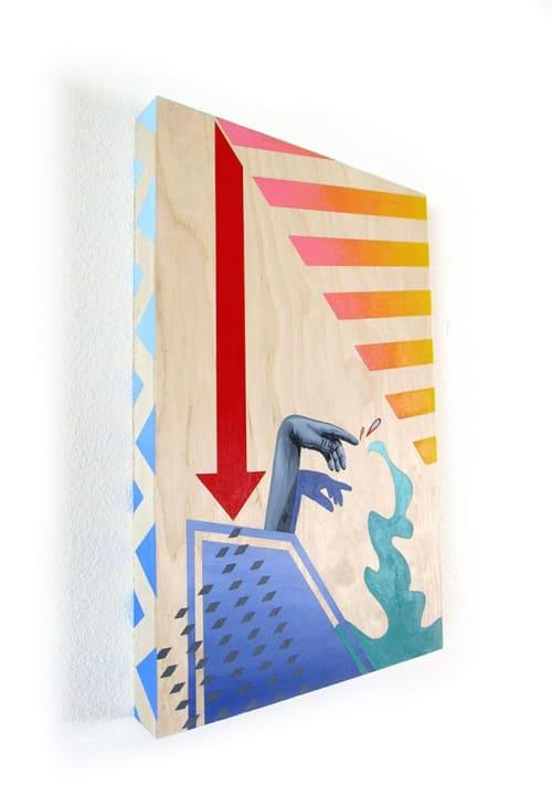 Paintings by April Werle seen at Creator's Studio, Missoula - April Werle