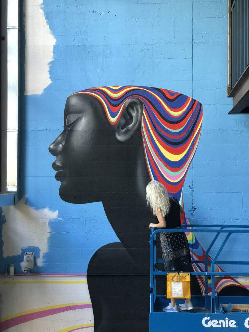 Murals by Gina Kiel seen at Work inc, Lavender Bay - Fountain