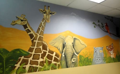 Murals by Angela Bawden seen at Excel Eye Center, Provo - Animal Mural