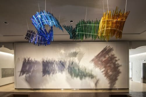 Sculptures by Carlyn Ray Designs seen at Moroch Partners, Dallas - Moroch Weaving