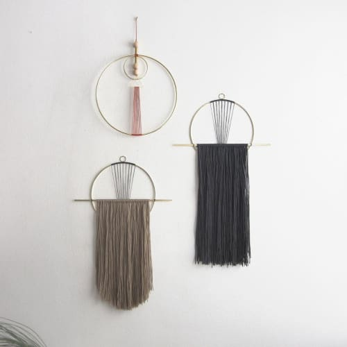 Macrame Wall Hanging by Attalie Dexter Home + Accessories seen at Private Residence, Los Angeles - Wall Hangings