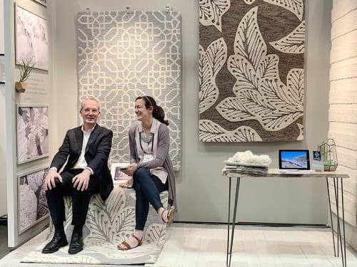 Rugs by eye heart hand seen at Jacob K. Javits Convention Center, NYC, New York - ICFF 2019