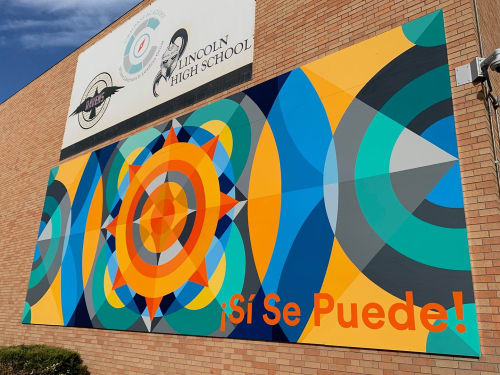 Street Murals by Jason T. Graves seen at Abraham Lincoln High School, Denver - Pepsi Life Water – Canvas for Change – Denver, Colorado