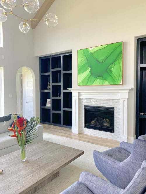 "Interior Design by Ginger Ray Walker Art seen at Private Residence, Fort Worth - ""Abundance"""