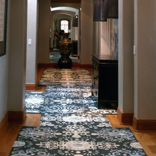 Rugs by Emma Gardner Design, LLC seen at Private Residence, Denver, CO, Denver - Palace (Midnight) Hand-Knotted Rug