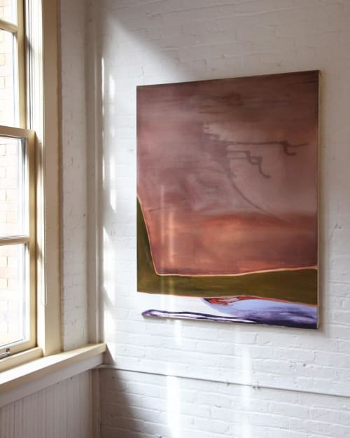 "Paintings by Dana James seen at Private Residence, New York - ""Memory Pool II"""