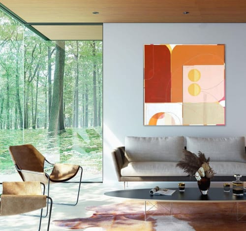 Paintings by TS ModernArt Studio seen at Private Residence, Manhattan Beach - Off the Line