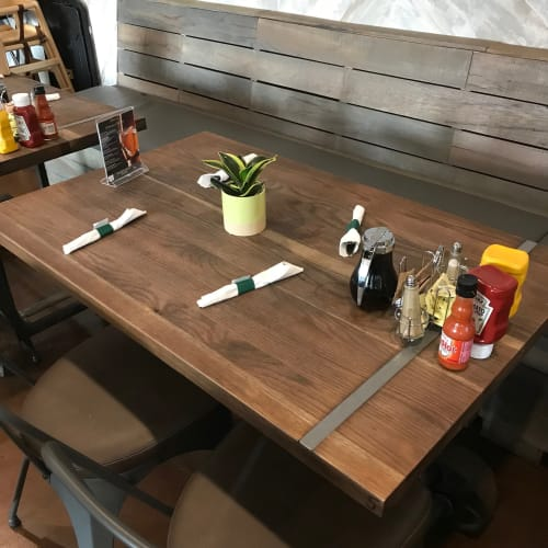 Tables by Scurfield WoodWorks seen at Rosie's Coffee Cafe, Atlanta - Custom Tabletop