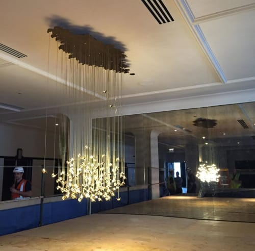 Chandeliers by Studio KCA seen at Kimpton Gray Hotel, Chicago - Firefly Chandelier