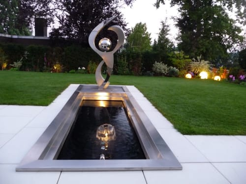 Architecture by Housi Knecht Artist seen at Private Residence - Water-light-sculpture / private owner / Aplombe