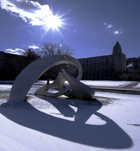 Sculptures by Russell Jacques seen at Boston University, Boston - Counterpoint