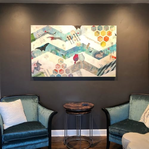 """Paintings by Magdalena Bogart seen at Private Residence, San Jose - """"So Far So Good"""" Painting"""