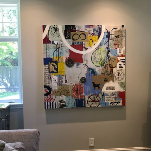 Paintings by Bibby Art seen at Private Residence, Kentfield - Commissioned paintings