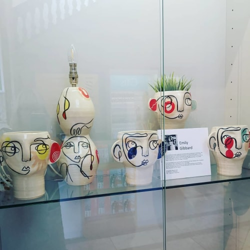 Sculptures by Totterdown Potterdown seen at Royal West of England Academy (RWA), Bristol - RWA shop